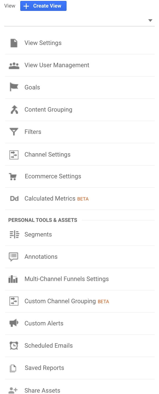 View - Google Analytics